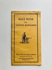 Vintage 1938 NRA Gun Rule Book for Junior Marksmen