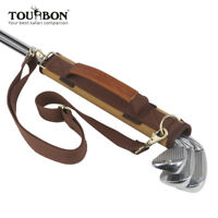Tourbon Leichte Golfbag Leder Canvas Golfschläger Tasche Mini für Kinder/Herren