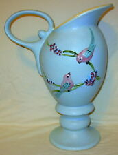Vintage Hull Pottery Serenade Pitcher/Vase with Birds, S13 Circa 1957