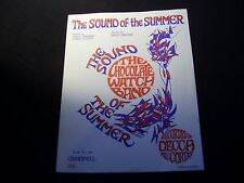 RARE PSYCH - THE CHOCOLATE WATCH BAND The Sound of the Summer 1967 SHEET MUSIC
