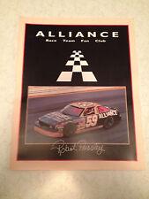 Robert Pressley #59 ALLIANCE Race Team Fan Club Folder Ricky Pearson New