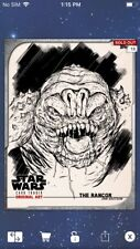 Topps Star Wars Digital Card Trader  Black & White Original Art Rancor Insert