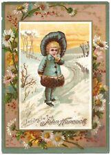 """JOHN HANCOCK"" (1884) ""LIFE INSURANCE"" - Trade Card - *RECENT DEATH CLAIMS PAID*"