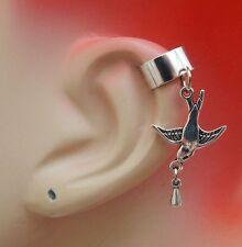 Bird Charm Drop/Dangle Ear Cuff Handmade Jewelry Silver Accessories NEW Fashion