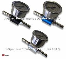 R-Spec Pro Fuel Pressure Adaptor & Gauge For Any Petrol Car FPR Rail Pump Reg