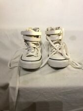Converse All Star Hi Top Boys White Trainers Uk 4 Ref Ap01