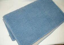Blue Bathroom Rug Matt Non Slip Carpet Textured Rug Machine Washable 21x36 New