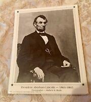 President Abraham Lincoln Portrait Photo by Mathew B. Brady 1995 Angel Gifts