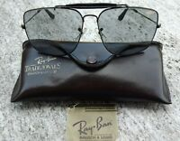 RARE B&L USA RAY BAN BLACK CHROME LARGE EXPLORER 62 14, CHANGEABLE LENSES.
