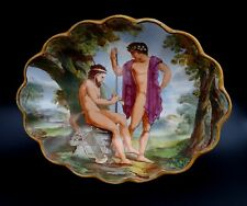 Antique Samuel Alcock & Co Bowl Ancient Greek Theme Satyr Playing Flute c.1850