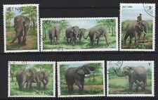 VIETNAM  1986  SC=1732 - 1737  Elephants   Used  CTO