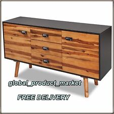 XL Sideboard Unit Storage Chest 2 Drawers Cupboard Home Luxury Cabinet 180 Cm UK