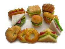 10 Loose Mix Fast Food  Dollhouse Miniatures