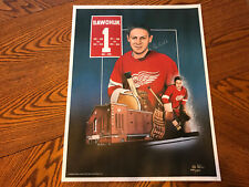 VINTAGE TERRY SAWCHUK 18x23 LITHOGRAPH POSTER  LAPERE 398/550 RARE