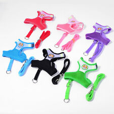 Small Cat Pet Dog Puppy Soft Mesh Fabric Adjustable Harness Lead Leash with Cli