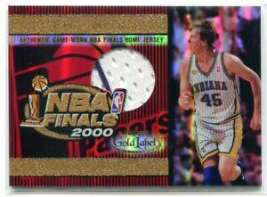 2000-01 Topps Gold Label Game Jerseys 15 Rik Smits 2000 NBA Finals Jersey