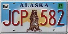 FREE UK POSTAGE Alaska Standing Bear Grizzly USA License Number Plate JCP 582