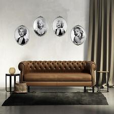 4 unidades Marilyn Monroe Retrato Adhesivo Pared Arte Vinilo Extraíble Mural