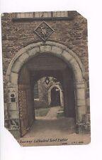 Postcard.Doorway Cathedral Yard, Exeter. Poor condition.