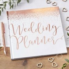 Rose Gold Wedding Planner Foiled Book Journal Bride To Be Engagement Gift