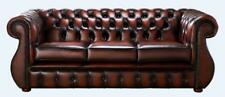 Chesterfield Kimberley 3 Seater Antique Rust Leather Sofa Settee