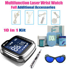 LASTEK 10 in 1 Blood Glucose Meter Acupuncture Pen Laser Watch Therapy Device