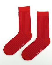 Mens Cotton Business Socks Crew Work Dress Socks Bright coloured Size 40-46 Pink