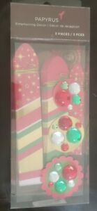 Papyrus Christmas Holiday Entertaining Decor Fans, Box of 3, (5687295) Party