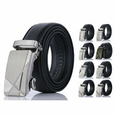 Genuine Mens Black PU Leather Belt Belts Buckle Sizes Trousers Jeans Casuals New