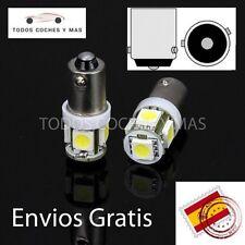 2 X BOMBILLAS LED COCHE CANBUS BAX9S 5 SMD 5050 H6W CLAVIJAS EN ANGULO BLANCO