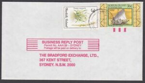 NORFOLK IS 1987 39c rate cover to Australia - nice franking.................M640