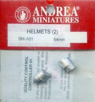 Andrea Miniatures 54mm 1:32 Helmets (2) Metal Detail Set #SM-A01