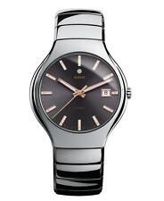 Rado True Slim High-Tech Ceramic Swiss Made Men's Automatic Watch R27351102 NEW