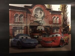 Disney Pixar Cars 24 piece Puzzle Ages 3-7 254x330mm Mattel Lightning McQueen