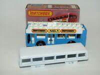 Matchbox Superfast No 17 London Bus Blue & White Factory Error MIB RARE