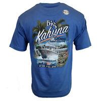Big Kahuna Men's T-Shirt Island Getaway Summer Beach Cruise NEWPORT BLUE NEW