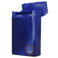 100mm Blue Marble Shargio Flip Cigarette Case Long 100s Hard Crushproof Plastic