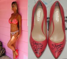 Shauna Sand Signed Personally Worn Used High Heels Shoes BAS Beckett COA Playboy