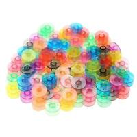 100pcs Universal Plastic Colorful Empty Bobbins Spool for Sewing Machine A#S