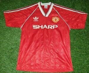 Manchester United adidas 1988 1990 Home Replica Shirt Large L Original