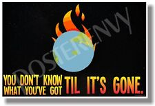 You Don't Know What You've Got Til Its Gone - NEW Classroom Environmental POSTER