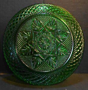 Cristal d'Arques JG Durand Antique Emerald Green Salad Plate