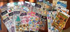 Sticker Lot Holiday Birthday Christmas Halloween 4th of July Easter Jolee's etc