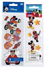 2 New PACKS Disney Mickey Mouse Dimensional Scrapbook Stickers