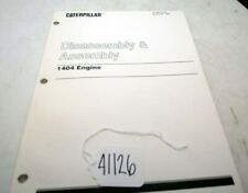 Cat Disassembly and Assembly 1404 Engine Manual senb8108-02 (Inv.41126)