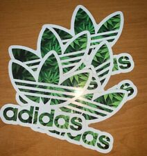 NEW- Adidas Sticker Smoke Weed (5x Sticker Pack) FREE SHIPPING SKATEBOARDING