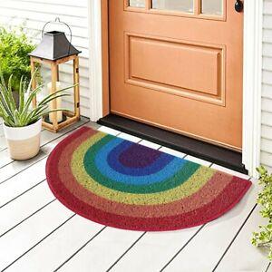 Nicoman Rainbow Pride Doormat Dirt-Trapper Door mat Non-Slip Indoor Outdoor Mat