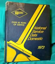 1973 Mitchell National Repair Manual Service Data for Domestic Cars