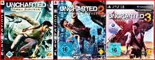 PS3 4 Games: Uncharted 1 - 3 + Extragame/Multilingue