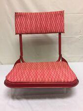 Vintage Classic Red Folding Stadium Fishing Boat Bleacher Metal Seat